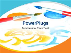 PowerPoint template displaying creative_Art_0418