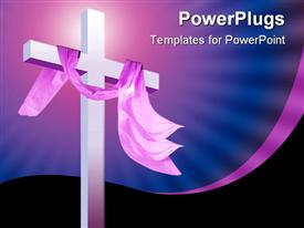 Illustration depicting the modern Christian way of life and elements powerpoint design layout