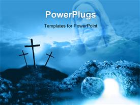 Crucifixion and resurrection powerpoint template