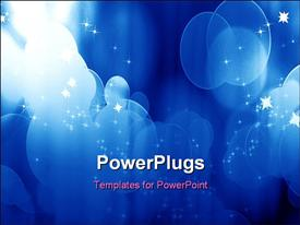 Curtain with spotlights on a blue background powerpoint theme