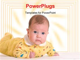 PowerPoint template displaying small baby on table