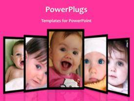 PowerPoint template displaying loveable kids background