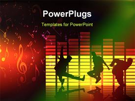 PowerPoint template displaying composition 2D dance music cool art