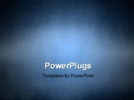 PowerPoint template displaying grunge texture background in blue