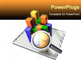 PowerPoint template displaying analyzing charts and data business sales marketing looking close details