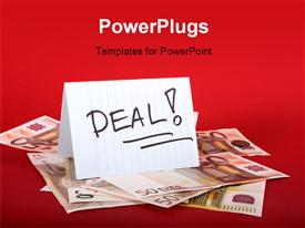 Deal sign and money on the table template for powerpoint