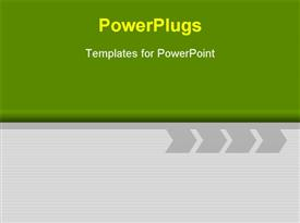 Green Design With arrow template for powerpoint