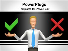 PowerPoint template displaying abstract character