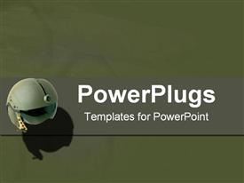 Miniature cam and military green powerpoint template