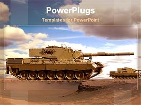 Desert tanks powerpoint design layout