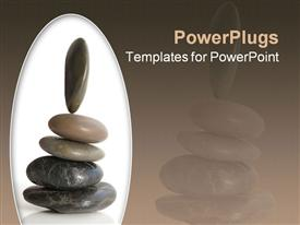 PowerPoint template displaying rocks balancing