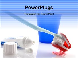 PowerPoint template displaying save your teeth