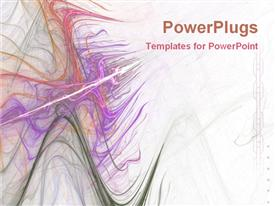 PowerPoint template displaying abstract vibrant swirls shapes