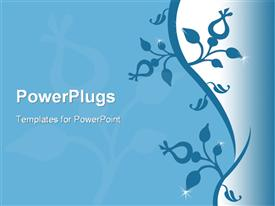 PowerPoint template displaying beautiful flower design in the background.