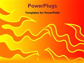 PowerPoint template displaying design of a abstract fire in the background.