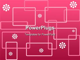 PowerPoint template displaying abstract depictions of lots of rectangles on a pink background