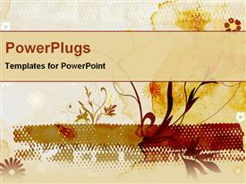 PowerPoint template displaying floral abstract background