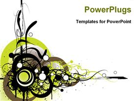 Floral abstract background powerpoint theme
