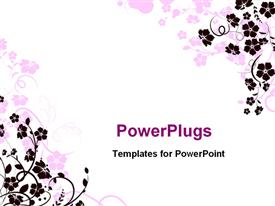 PowerPoint template displaying a beautiful depiction of various types of flowers and white background