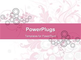 PowerPoint template displaying floral Background in the background.
