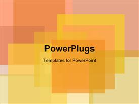 PowerPoint template displaying square Design in the background.