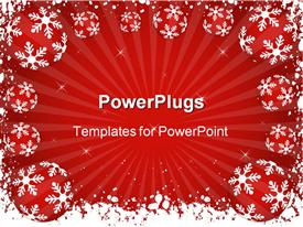 Winter themed background powerpoint template