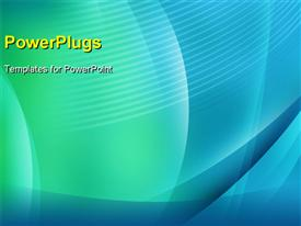 PowerPoint template displaying digital background with blue and green gradients in the background.
