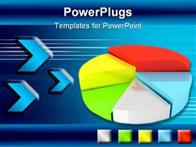 PowerPoint template displaying abstract diagram for company presentation