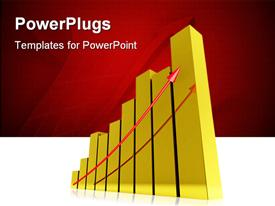 PowerPoint template displaying diagram gold