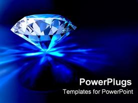 PowerPoint template displaying diamond piercing ground in the background.