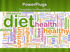 Word cloud concept healthy diet powerpoint theme