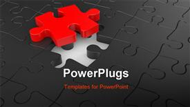 PowerPoint template displaying a lot of puzzle pieces together