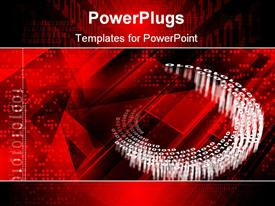 PowerPoint template displaying digital color design background