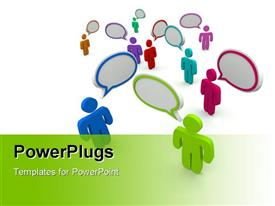 Many people talking at the same time in disorganized confused communication powerpoint template