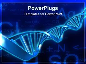PowerPoint template displaying dNA model