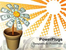 The dollars flower template for powerpoint