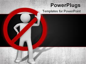 PowerPoint template displaying isolated characters business series