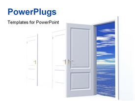 PowerPoint template displaying doorway to dreams in the background.