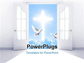 PowerPoint template displaying conceptual depiction - a way to spirituality