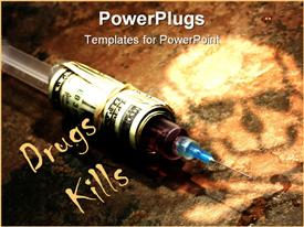 PowerPoint template displaying drug Addiction Concept