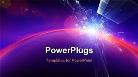 PowerPoint template displaying dynamic interplay of attractive forms on the subject of modern technologies communications energy in the background.