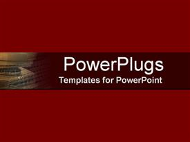 PowerPoint template displaying a plain wine colored background with a brown strip