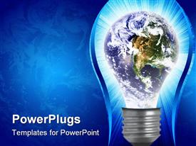PowerPoint template displaying the depiction of an idea changing the whole world