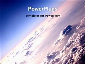 PowerPoint template displaying outer surface of earth