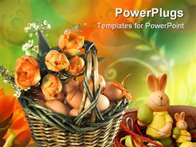 Easter basket powerpoint design layout