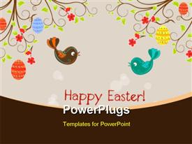 Easter birds singing powerpoint template