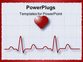 PowerPoint template displaying heart graphing paper showing pulse