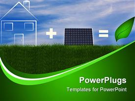 PowerPoint template displaying the concept of green energy related to solar panels