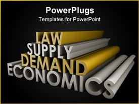 PowerPoint template displaying economics Law of Supply and Demand Background in the background.