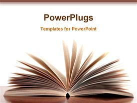 PowerPoint template displaying book is opened